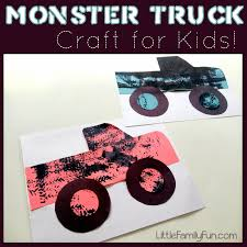 little family fun monster truck craft