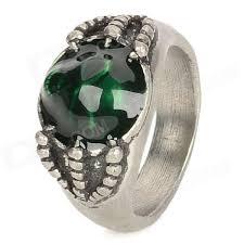 men rings style images 17 men 39 s skull style aluminum alloy ring silver green jpg
