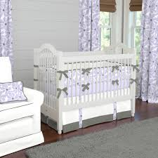 Lavender And Grey Crib Bedding Lilac Twirly Crib Bedding Carouseldesigns Babybedding
