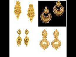 earring design new gold earring designs 2017