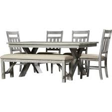 6 pc dining table set 6 pc dining set with bench wayfair