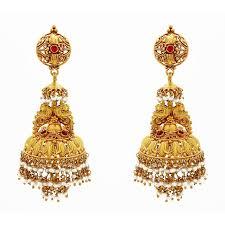 earrings in grt earrings antique style jhumkas with pearl grt jewellers