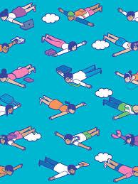 pattern animated gif flights of fancy animated gif ellen porteus illustration