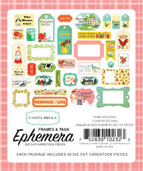 country kitchen frames u0026 tags ephemera by carta bella for