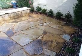 Flagstone Patio On Concrete by Landscaping And Outdoor Projects Classic Rock Stone Yard