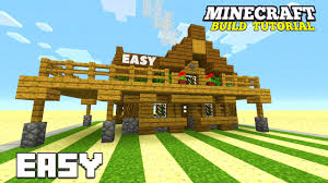 minecraft how to build a small survival house tutorial survival
