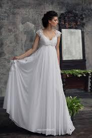 chiffon wedding dresses with cap sleeves naf dresses