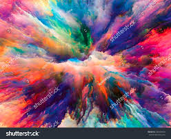 color designs color explosion series abstract design made stock illustration