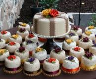 fall themed cakes a wedding cake