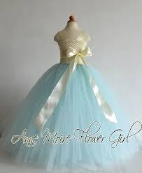 Tiffany Blue Flowers Tiffany Flower Tutu Dress Ivory And Tiffany Blue Tutu Dresses