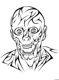 how to draw a tribal zombie tribal zombie tattoo step by step