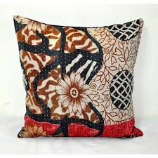 Throws And Cushions For Sofas Vintage Kantha Quilted Throw Pillows Vintage Kantha Pillows