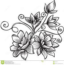 ornamental flower bouquet vector illustration stock vector image