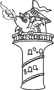 dragon fire castle coloring wecoloringpage