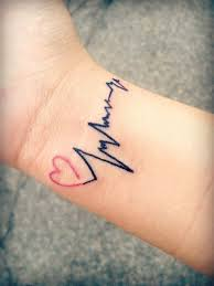heartbeat tattoo with infinity 30 really strange and adorable wrist tattoos entertainmentmesh