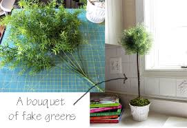 Fake Plants How To Make A Fake Topiary In My Own Style