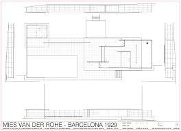 Pool Pavilion Plans Architecture As Aesthetics Barcelona Pavilion