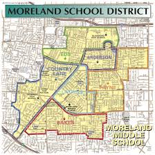 san jose district map district boundaries about us moreland school district