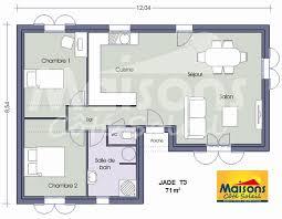 plan maison 2 chambres plain pied plan maison plain pied 2 chambres plan de maison en t cool