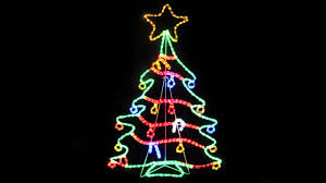 rope light silhouettes led tree with decorations 1 2
