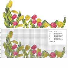 Home Design Gold Free Download Cross Stitch Tulips Flowers Border Free Download Free Cross