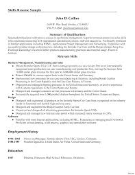 sales resume summary of qualifications exles management summary of qualifications resume exles expertise and job sle