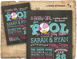 co ed baby showers pool party baby shower invitation summer baby shower coed