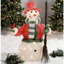 Costco Lighted Snowman by Lighted Snowman Indoor Outdoor Sculpture Garden Ideas Design