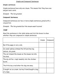 simple and compound sentences worksheet by jessplex teaching