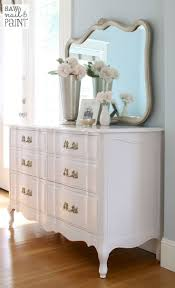 White Dresser And Nightstand Set Bedroom Furniture Sets Glam White Decorative Mirrors Glam
