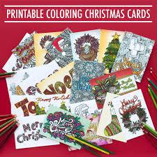 free christmas card printable template coloring page christmas