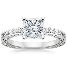 Princess Wedding Rings by Stunning Princess Cut Engagement Ring Styles Brilliant Earth