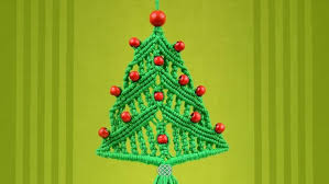 how to make a macrame christmas tree ornament christmas ideas