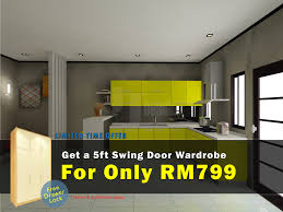Kitchen Cabinet Feet by Get A 5 Feet Wardrobe At Rm799 Only Promotion Jt Design