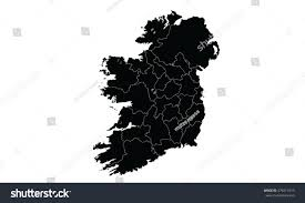 ireland map black color stock vector 476519713 shutterstock