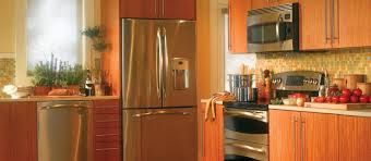 best small kitchens with nice big refrigerators in wooden rack