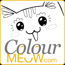 colour meow cat colouring pages u0026 cat drawings for adults anti