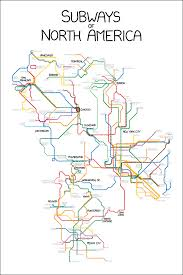 Chicago To Atlanta Map by Fantasy Map Subways Of North America By Xkcd My Transit Maps