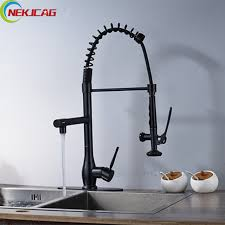 rubbed kitchen faucet rubbed bronze kitchen sink faucet single handle pull