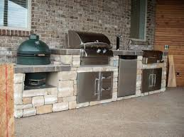 kitchen island grill outdoor kitchen with green egg and gas grill outofhome