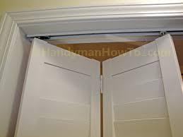 How To Remove Closet Sliding Doors by How To Install A Bi Fold Closet Door Handymanhowto Com