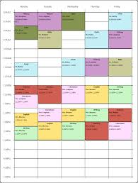 online weekly class scheduling template i used the free college