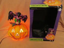 thanksgiving 2004 date rare gemmy bat dracula on fiber optic pumpkin halloween prop decor