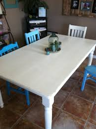 Distressed Dining Room Table by The Baeza Blog Distressed Dining Table