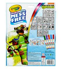 crayola color wonder teenage mutant ninja turtles metallic