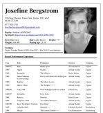 Performing Arts Resume Template Performing Arts Resume Template Actors Resume Example Acting