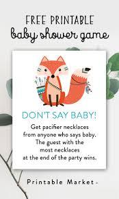free baby shower printables printable market