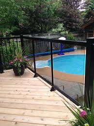 balcony railing glass panel for front and railings for side
