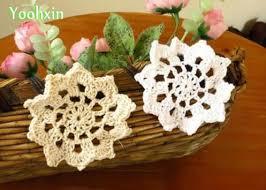 napperon de cuisine crochet fait blanc couverture de serviette de table mat
