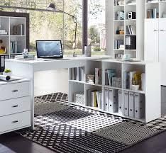 bureaux avec rangement bureau d angle contemporain avec rangement coloris blanc monty